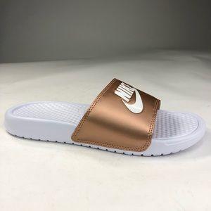 Nike Benassi JDI 'Metallic Red Bronze' Size 9